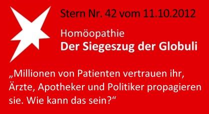 """""""Der Siegeszug der Globuli"""", Stern Nr. 42 vom 11.10.2012 - Homöopathie-Lüge"""