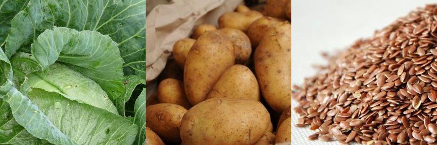 Weisskohl Kartoffel Leinsamen
