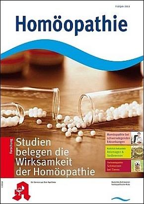 Cover Homöopathie Frühjahr 2013