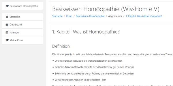 """Online-Lernprogramm """"Basiswissen Homöopathie"""" freigeschaltet"""