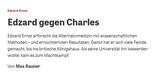 ZEIT Wissen: Max Rauner glänzt mit Halbwissen über Edzard Ernst und die Homöopathie – kleiner Faktencheck