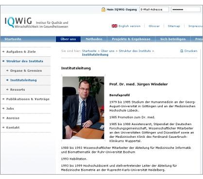 IQWiG-Chef Prof. Dr. med. Jürgen Windeler
