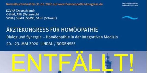 Absage Ärztekongress Homöopathie 2020