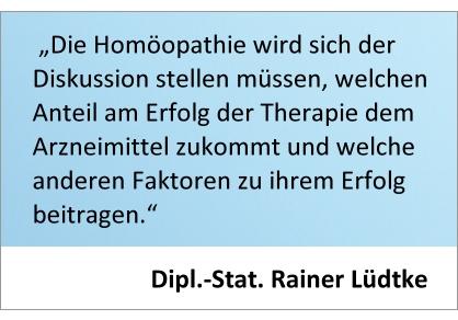 Rainer Lüdtke - Wirkfaktoren der Homöopathie