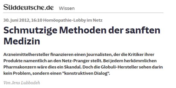 """Ist sachliche Kritik an Journalisten """"Rufmord""""? – Die Süddeutsche Zeitung reagiert auf Kritik des DZVhÄ"""