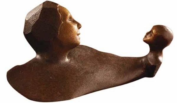 Skulptur Fragemente Ute Bauer